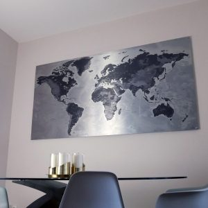 Metallic World Map