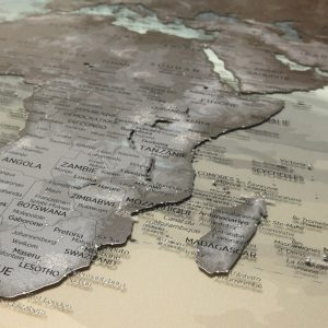 Double-sided Plexiglas world map 2/2