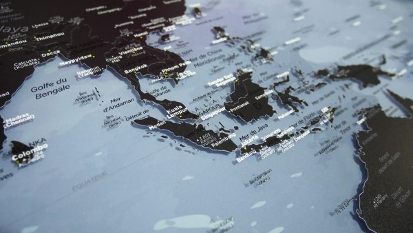 Double-sided Plexiglas World Map
