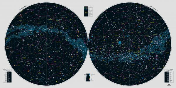 Sky Map - North and South Hemisphere